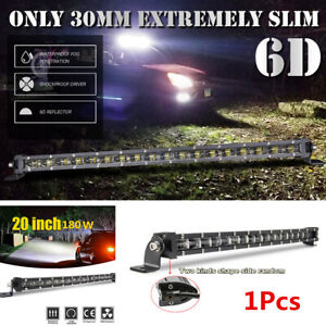 1x 20In 180W LED Work Light Bar Spot Beam Pods Driving Off-Road Tractor 4WD 12V