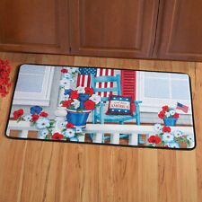 """July 4th Patriotic """"God Bless America"""" Kicthen Porch Rug 20""""x40"""" FREE SHIPPING"""