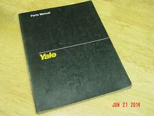YALE  Model MPW 040-080 4000, 6000, 8000lb  series Parts Manual 1990 LQQK!