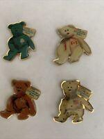McDonald's Crew 4 International Bears  Lapel Pin Pins TY Beanie Babies 1999-NIP