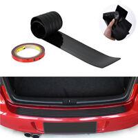 Universal Car Black Rear Bumper Sill/Protector Plate Rubber Cover Guard Trim Pad