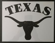 "Texas Longhorns Long Horns Steer 11"" x 8.5"" Custom Stencil FAST FREE SHIPPING"