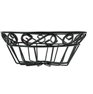 EASYVIEW Sturdy Round Wire Fruit Basket Bowl Vegetable Bowl for Eggs Fruits Snac