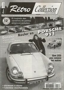 RETRO COLLECTION 16 1999 DOSSIER PORSCHE 911 S 2.0 1966 PEUGEOT 203 CORBILLARD