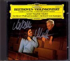 Anne-Sophie MUTTER Signiert BEETHOVEN Violinkonzert KARAJAN CD Violin Concerto
