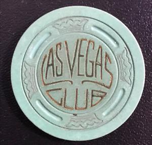 LAS VEGAS CLUB LAVENDER LG CROWN POKER CHIP CASINO CHIP 1941 NEVADA CLASSIC GD