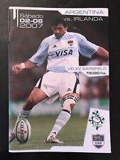 0021-Argentina V programas de rugby Irlanda 2007 junio de 2nd 02/06/2007 Los Pumas