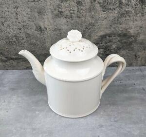 HARTLEY GREENS & CO. Leeds Pottery ENGLAND Creamware Teapot Tea Pot Coffee