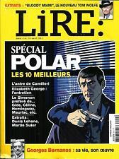 LIRE N°414 AVRIL 2013  SPECIAL POLAR/ E.GEORGE/ BERNANOS/ WOLFE/ VIEL/ GHOSH