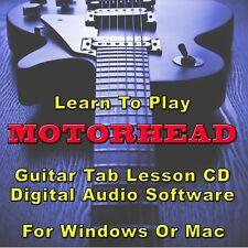 MOTORHEAD Guitar Tab Lesson CD Software - 74 Songs