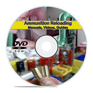 Learn to Reload .45 9mm .223 Ammo Ammunition Reloading Firearm Manuals DVD V22