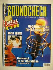 SOUND CHECK MAGAZIN 2002 # 9 - CHRIS ISAAK IBANEZ AR2000VV ESP LTD H1000 CRATE G