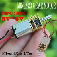 5V Mini DC Motor 3V 6V 60-300RPM Slow Speed Gear Box Motor for DIV Robot Car Toy