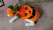 Pet Sequin Pumpkin Light Up Eyes Costume Sz XL  NEW by PET LOV LIGHTS UP 2 CUTE