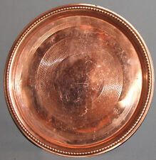 VINTAGE ROUND COPPER SERVING TRAY