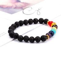 7 Chakra Armband Healing Perlen Diffusor natürlichen Lava Stein Schmuck Geschenk
