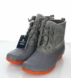 49-69  NEW $120 Women Sz 8 M Sperry Saltwater Duck Boot In Gray
