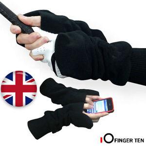 Golf Mittens Gloves Winter Warm Cold Pull-Up Mitts 1 Pair Turtle Fur Fleece UK