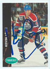 Kevin Lowe signed 1991-92 Parkhurst hockey card Edmonton Oilers autograph #51