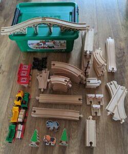 Brio 33188 Country Railway, BigJigs & John Lewis Wooden Train Set Job Lot