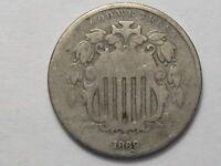 1869 US Shield Nickel.  #67
