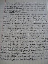 "GERMAINE BERAUD Manuscrits Autographes 1960 TRAD. ""IMPUTATA"" BONANNI + DIVERS"