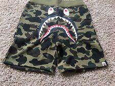 Men's A Bathing Ape Bape 1st Camo Shark Shorts, Green,Size XL
