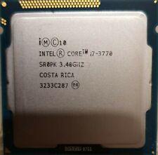 Intel Core i7 - 3770 - 3.40GHz Processor (SR0PK) LGA1155 CPU #B