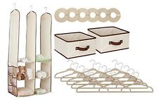 Delta Children Nursery Closet Organizer, Beige, 24 piece