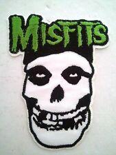 "(C26) MISFITS SKULL 4"" x 3"" iron on patch Punk Skeleton Backpack applique"