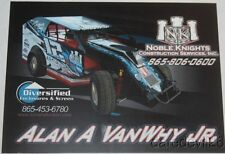 2016 Alan A VanWhy, Jr. Noble Knights Big Block Modified postcard