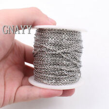 GNAYY 10meter Lot silver stainless steel joint Link Chain Jewelry Finding 1.5mm
