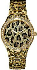 New GUESS Watch, Women's Animal Print Polycarbonate Bracelet 40mm U0015L2