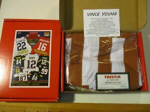 VINCE YOUNG TEXAS LONGHORNS TRISTAR HIDDEN TREASURES SIGNED FOOTBALL JERSEY NEW