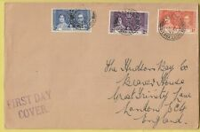 TT4595  Freetown Sierra Leone 12 May 1937 Coronation First Day Cover
