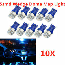10X 8000K Blue T10 5050 5SMD LED Interior Dome Map Lights Instrument Dash Bulbs