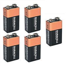 Shrink Pack Of 5X DURACELL 9V PP3 Heavy Duty Block Alarm MN1604 Battery Alkaline