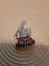 Nolan Miller Jeweled Thistle Brooch