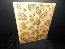 "Stampin Up Pretty Paisley Background 4 3/4 x 5 3/4"" 1 Wood Mount Stamps L0718"