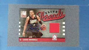 2009 Donruss Elite ANDRE IGUODALA Relic Auto /25 Philadelphia 76ers  ~JU20