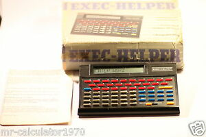 VINTAGE EXEC-HELPER 8200 Electronic Organiser Data Bank Spellchecker Calculator