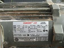 US electric al motor 3hp e192A unimount utp 182t 230 460v 1750rpm