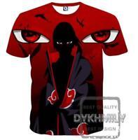 New Fashion Womens/Mens Uchiha Itachi 3D Print Casual T-Shirt YT1049