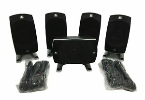Lot of 5 Logitech Z 5500 Speakers & Wire Only (NO SUBWOOFER OR CONTROL POD)
