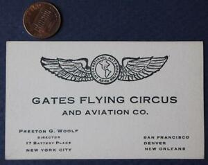 1930s Era New York City Gates Flying Circus.Aviation card-Barnstorming-EARLY!