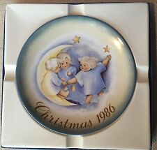 "Schmidt 1986 Christmas plate ""Tell the Heavens"" Berta Hummel"