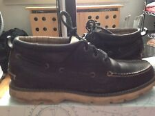 Sperry Top-Sider Shipyard Chukka Black Boat Shoes Lace Ups Size 11 - Free S/H