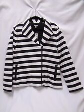 Striped Moto Jacket Talbots Size XL Casual T by Talbots New with Tags Size XL