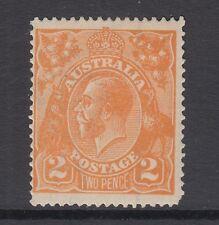 Australia Sc 27a MLH. 1920 2p orange KGV