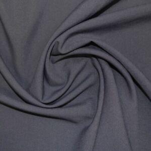 Dark Grey Plain Dress Material Drape Polyester Clothing Trousers Panama Fabric